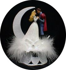 Disney Princess Sleeping Beauty & her Prince Wedding Cake Topper Fairytale WHITE