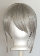 12'' Bob Cut Silver Gray Synthetic Cosplay Wig NEW