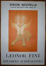 Leonor Fini Affiche en lithographie 1972 Estampes Surréalistes Art Fantastique