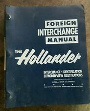 The Hollander Foreign Interchange Manual  1977 MG Austin VW BMW Honda Porsche