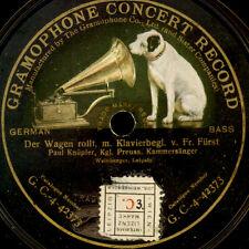 PAUL KNÜPFER -BASS- Der Wagen rollt / Der letzte Gruß -Lied- 1910;   78rpm S9344