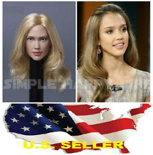 1/6 Jessica Alba female head sculpt 2.0 for Hot Toys Phicen Kumik body IN STOCK