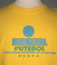 Brazil Soccer Adult Medium Large #10 Yellow Jersey T-Shirt (M L FIFA World Cup