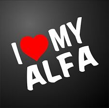 I LOVE MY ALFA ROMEO 159 GT 156 Car Window Bumper Graphic Sticker alloy wheels