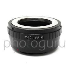 Anello adattatore obiettivi M42 42x1 su fotocamera mirrorless CANON EOS-M EOS M