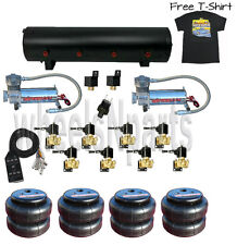 "AirMaxxx 480C Chrm Air Compressors 3/8"" Valves 2500 Air Bags Blk 7 Switch TShirt"