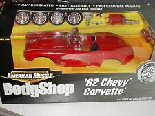 ERTL 1962 CHEVY CORVETTE RED BODY SHOP ASSEMBLY MODEL KIT 1/18 VHTF