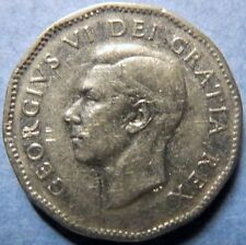 *1950  Vintage CANADA  5 CENTS  COIN, Very Fine Circulated KING GEORGE V COIN