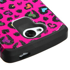 LG Tribute S660 Design Pink Colorful Leopard Case Cell Phone Cover Accessory