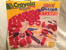 Crayola Activity Kit Radical Rolling Rubber Stamps Markers Ink Pad Children Vin.