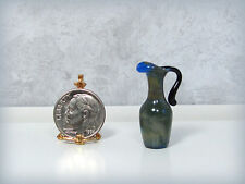 Dollhouse Miniature Tall Muted Patterned Glass Pitcher - German Hand Blown