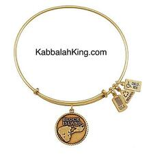 Wind & Fire Block Island Charm Gold Expandable Bangle Bracelet Made In USA