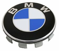 4x BMW WHEEL CENTRE CAPS 10 PIN CLIPS 68MM BADGE FITS 1 3 5 7 Series E90 E34 Z4