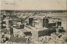 1912 Bari - Panorama della città di Bari dall'alto Porto BFerrovia - FP B/N ANIM