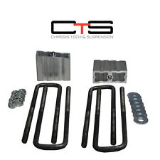 "GMC Chevy 01-10 Silverado Sierra HD 2500 3500 3"" Rear Blocks lift 6061 Ubolt ""C"""