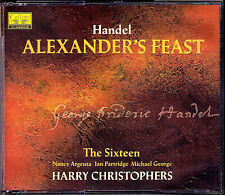 HANDEL: ALEXANDER'S FEAST Nancy Argenta The Sixteen Harry Christophers 2CD