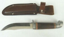 VINTAGE WESTERN 66 STRAIGHT BLADE HUNTING KNIFE WITH SHEATH