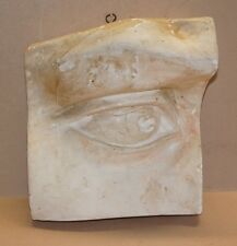 "vintage RIGHT EYE ""heavy"" Plaster Cast  Art Study Prop Artist Estate Find"