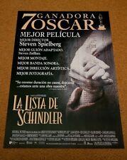 SCHINDLERS LIST Original Movie Poster STEVEN SPIELBERG LIAM NEESON RALPH FIENNES