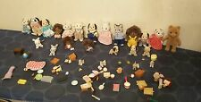 Calico Critters lot of 15+ with accessories 1980s