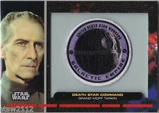 STAR WARS GALACTIC FILES PR-23 EMBROIDERED PATCH DEATH STAR COMMAND MOFF TARKIN