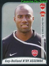 500 N'DY ASSEMBE CAMEROON ROOKIE VALENCIENNES.FC STICKER FOOT 2009-2010 PANINI