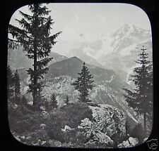 Glass Magic Lantern Slide THE VIEW AT MURREN C1890 SWITZERLAND