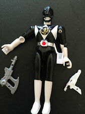 Power rangers mighty morphin black ranger loose action figure with accessories