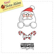 New ART IMPRESSIONS RUBBER STAMP Set NOTE-ABLES SANTA Claus cling FREE USA SHIP