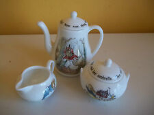 Wedgwood Barlaston Beatrix Potter Peter Rabbit MINIATURE TEA SET ~ Excellent Con