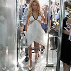 SUMMER SILK RARE & DIVINE MAXI GOWN SASS AND BIDE WHITE PARIS CELEBRITY DRESS