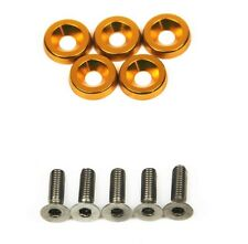 SUPER GT 5x Anodise Gold Fender Washer & Bolt Honda Civic EK EG EP FN FD TypeR
