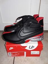 SZ 8 CLEAN NIKE AIR ZOOM VICK II 2 BLACK RED 599446 005 W/ OG BOX RETAIL $160