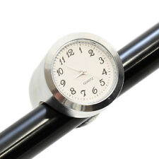 "RYDE CHROME ANALOGUE MOTORCYCLE HANDLEBAR CLOCK/WATCH 22MM/7/8"" MOTORBIKE/BIKE"