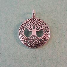 .925 Sterling Silver Detailed CELTIC KNOT TREE of Life Pendant NEW 925 CC16