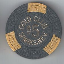 Gold Club $5.00 Large Key Mold Casino Chip 1972 Sparks Nevada