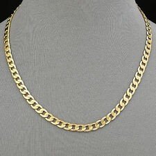 224/20 - Men's Necklace 14K Gold Plated 6 mm Cuban Link Chain / Chapa de Oro