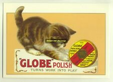 ad1831 - Globe Metal Polish - Kitten - modern advert postcard