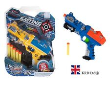 "11"" PUMP SOFT FOAM DART GUN WITH DARTS Kids Birthday Christmas Toy Gift New UK"