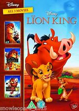 LION KING TRILOGY DVD BOX SET 1 2 3 DISNEY TRIPLE SIMBAS PRIDE HAKUNA MATATA