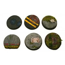 Armorcast 28mm TMB001 Urban Bases 25mm Round (6pcs) New Modern Mobocracy