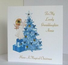 Personalised Christmas Card with Gemstones for Daughter/Granddaughter/Niece etc