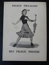 APRIL 1952 - RKO PALACE THEATRE PLAYBILL - PALACE TWO-A-DAY - HERB SHRINER