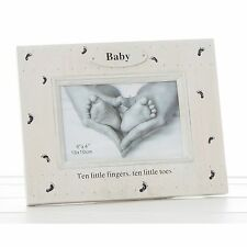 "Foot Prints Photo Frame - Baby (6x4"") New Ideal Keepsake Gift  26550"