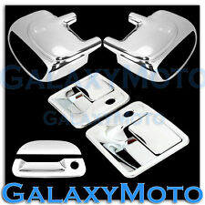 Ford F250+F350+F450 Chrome Mirror W/ Light+2 Door Handle w/KH+Tailgate Cover