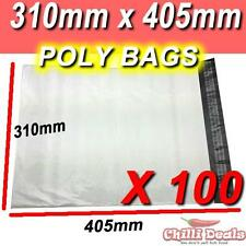 100 310X405mm POLY BAGS MAILER PLASTIC COURIER SATCHEL seal BAG MAILING SHIPPING