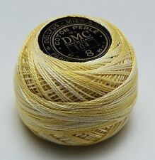 DMC Pearl Cotton Ball (10 gram) Size 8 Color #104 variegated yellow G