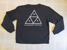 Used HUF Triangle Logo 2-Sided SWEATER Mens Sm Pullover S Crew Neck Worldwide