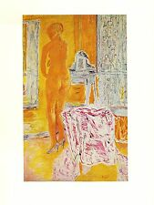 "1969 Vintage BONNARD ""NUDE IN YELLOW, LE GRAND NU JAUNE"" COLOR offset Lithograph"