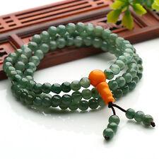 Natural Grade A Jade (jadeite) 108pcs 5mm Bead Long Bracelet Good Luck